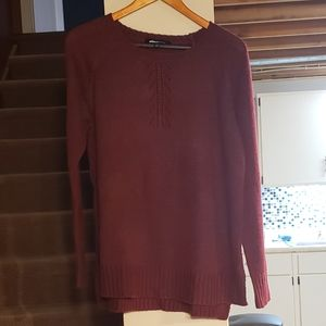 Aliceblue Maroon Sweater